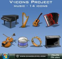 Windows Music Icons by Veinctor