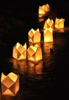 Candlelight powered paper lamp by yoman3d