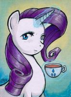 Tea Time with Rarity by AokiBengal