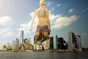 Giantess Jennette McCurdy's Rampage by dochamps