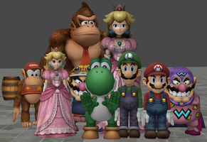 xnalara mario  friends models by twinlightownz