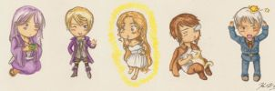 Five Little Chibis by gohe1090