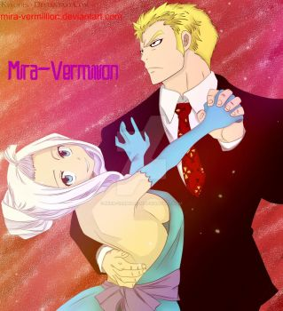 Mira and Laxus (Cover 380) by Mira-Vermillion