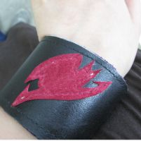 Fairy Tail Leather Bracelet by forevacrazy