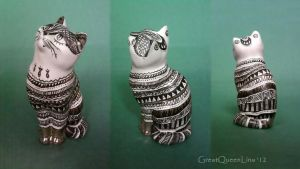 Porcelain cat by GreatQueenLina