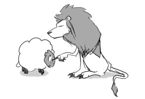 The lion and the Lamb 1 by noiselessness