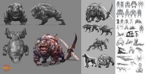 Hellgate:London creature study by HOON