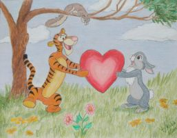 Tigger and Thumper by Vivienne-Mercier