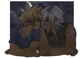 Sora and Riku by inkscribble