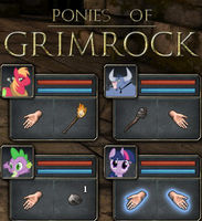 Ponies Of Grimrock Cover by CobaltBrony