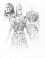 Noldor Armor Concepts by TurnerMohan