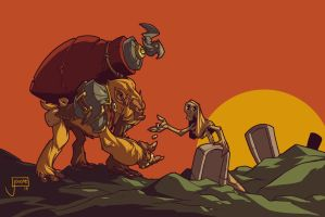 The Graveyard Gorrila by jouste