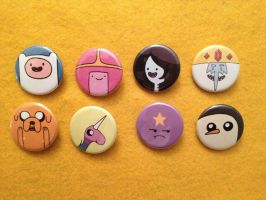 Adventure Time buttons by alliartist