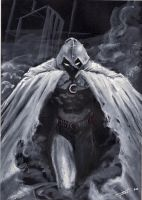 quikly sketch moon knight by LucaStrati