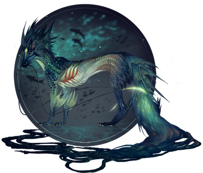 Abyssal Kitsune by NukeRooster