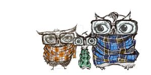 Hipster Owls by thesimplyLexi