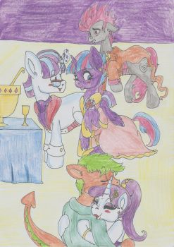 Drama on Great Galloping Gala (color version) by Keriwi1