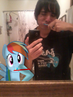 Rainbow Dash, how do you even hold that? by BCMmultimedia