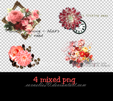 4 mixed png by Cornelie20