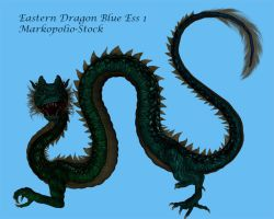 Eastern Dragon Blue Ess 1 by markopolio-stock