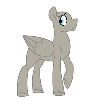 MLP Base 1 - Male Pegasus (MS PAINT) by Starlight1514