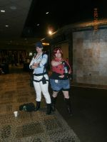 Jill Valentine and Claire Redfield by enterprisedavid