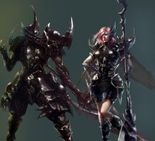 Male and female beetle armor by XiaoBotong