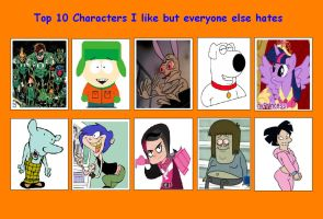 10 Characters I like but Everyone else Hates 03 by SithVampireMaster27