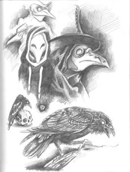 Plague Doctor Sketches by NailZVanDiggele
