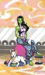 She Hulk's day off by joeFJ