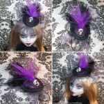 Doll Victorian Fascinator Hat-ISABELLA by spookyspinster
