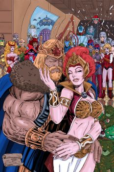King He-Man and Queen Teela by blksuperman2