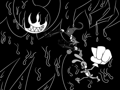 Alpha and Prince Bugs vs Bendy by AlphaAnt4