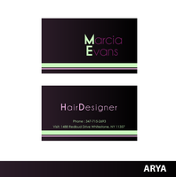 Marcia Evans - Business Card by AryaInk
