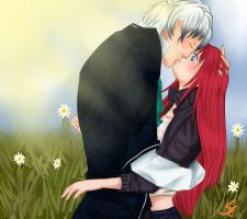 Lysander and Maka by silenceCookie