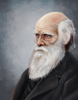 Charles Darwin by Chell-Dunphy