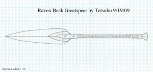 Raven Beak Greatspear by Ironstaff