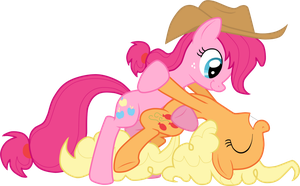 PinkieJack and ApplePie by StupidLittleCreature