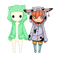Moo-chan And Callob by CowsEat-Pineapples