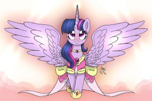 MLP FIM - Princess Twilight Sparkle In The Sky by Joakaha