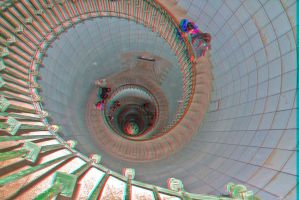 Stairs of lighthouse anaglyph by JoelRemy222