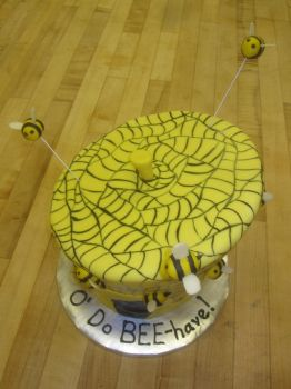 Beehive Cake (aerial view) by recycledrapunzel