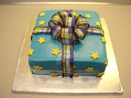 Square Present Cake by ginas-cakes