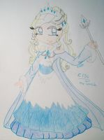 Elsa the Snow queen by Winxzafir