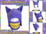 Halloween Cheshire Cat Aviator with Velcro Mask by AnimeNomNoms