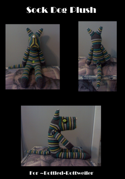 Sock Pup Plush by CeresMedici