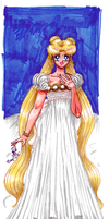 Cosmic Background: Princess Serenity by AmethystSadachbia