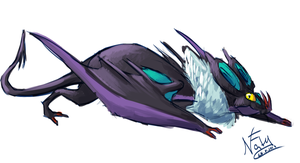 Dragons That We Love - Noivern by Natizilda