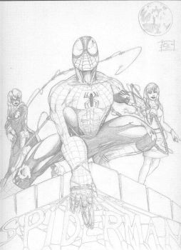 spiderman pencils by GothicPhobia