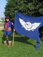 Vyse and Blue Rogues flag by crimsontriforce